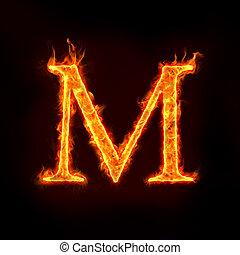 ogień, Abecadła, M