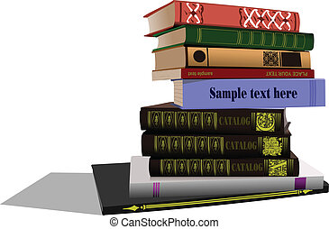 Vector illustration of column book