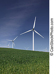 White Power Generating Wind Turbines - White power...