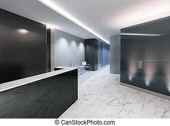 Office Entrance Area - Entrance area of an office with...