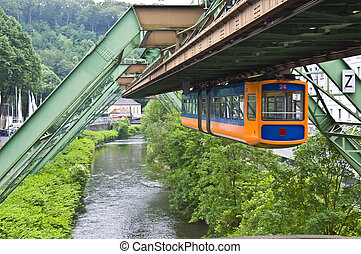 Floating tram - view of the famous floating tram in...
