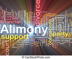 Alimony background concept glowing - Background concept...