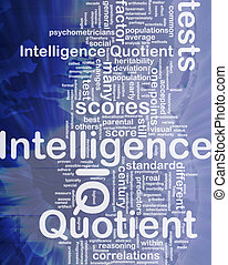 Intelligence quotient background concept - Background...