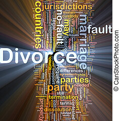 Divorce background concept glowing - Background concept...
