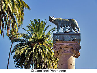 Capitoline she-wolf - VALPARAISO, CHILE - FEBRUARY 7:...