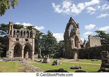 Ruins of Dryburgh abbey - Dryburgh Abbey in Melrose area,...