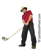 #1,  golf, juego, hombre