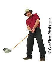 #2,  golf, juego, hombre