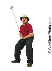 #3,  golf, juego, hombre