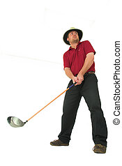 hombre, juego, golf, #4
