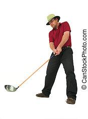 golf, juego,  #5, hombre