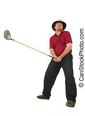 hombre,  golf,  #6, juego