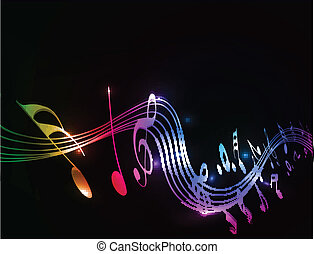 Music notes background - Music notes for design use, vector...