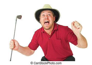 hombre, juego, golf, #39