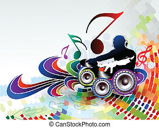illustration of an music background - Abstract vector...