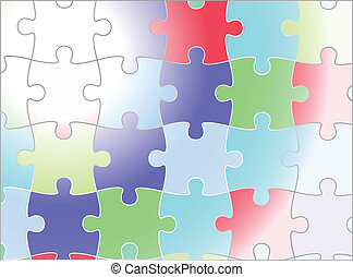 jigsaw puzzle vector background design,