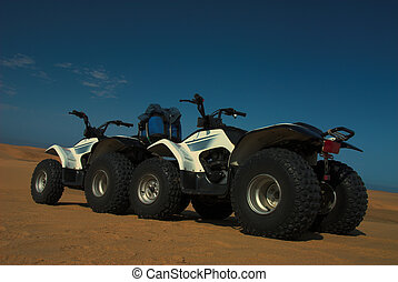 Quads 1 - Two quad bikes all terrain vehicles in Namib...