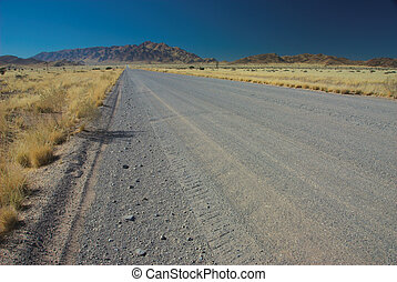 gravier, Namibie, route