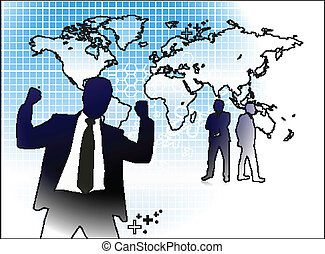 Success business people, conceptual business illustration