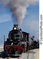 Steam train at Swakopmund, Namibia - Vintage steam train...