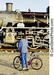 Steam train at Swakopmund, Namibia - Vintage steam train...