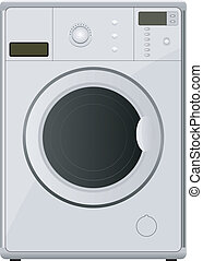 washing machine. vector