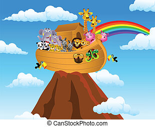 Noah's ark - Vector illustration of Noah's ark
