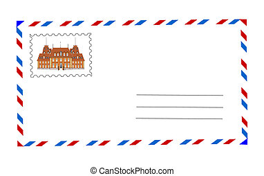 envelope and postage stamp vector i