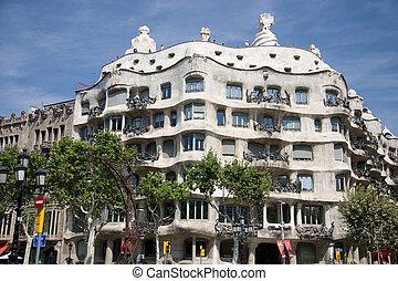 Gaudi Building in Barcelona