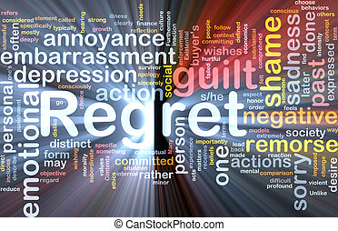 Regret background concept glowing - Background concept...