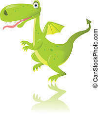 Green dragon - vector illustration of green dragon