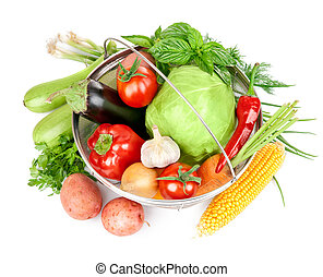 fresh vegetable with leaves