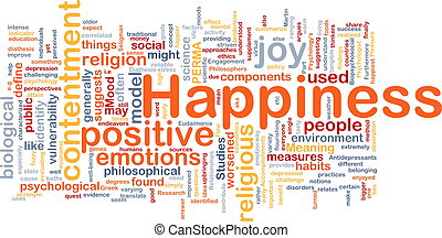Happiness background concept - Background concept wordcloud...