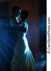 First dance - The first dance of the groom and the bride in...