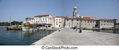 view over krk, croatia