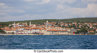 view over krk, croatia