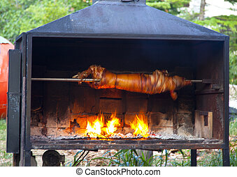 pork on a spit