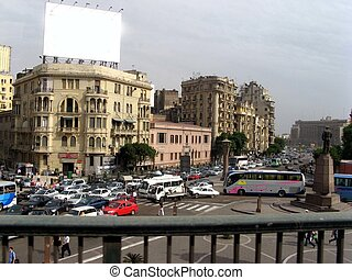City street - A city street seen in Cairo All logos removed...