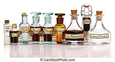 Various mother tinctures of homeopathic medicine - Various...
