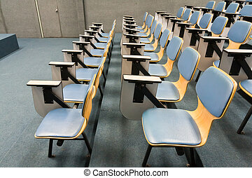 Armchairs in room can use for education or work