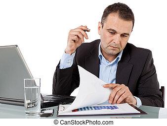 Businessman working desk