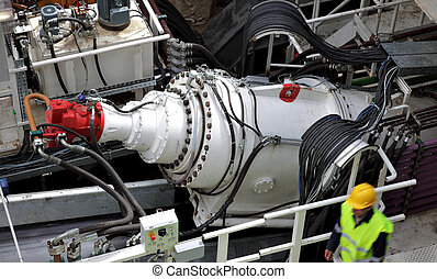 huge electric motor tunnel drill