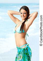 Female sea swimsuit