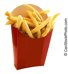 French fries in the red box
