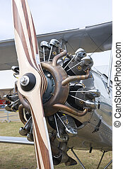 Radial engine with propeller - CERNY LA FERTE ALAIS, FRANCE...