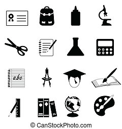 Education and school icons - Education and school icon set