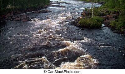 rough river flows