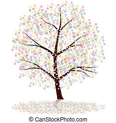 Dot Tree - An image of a dot tree