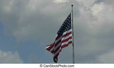 American II - American Flag at Veterens Memorial in Dallas,...