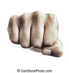 punch fist isolated on a white background